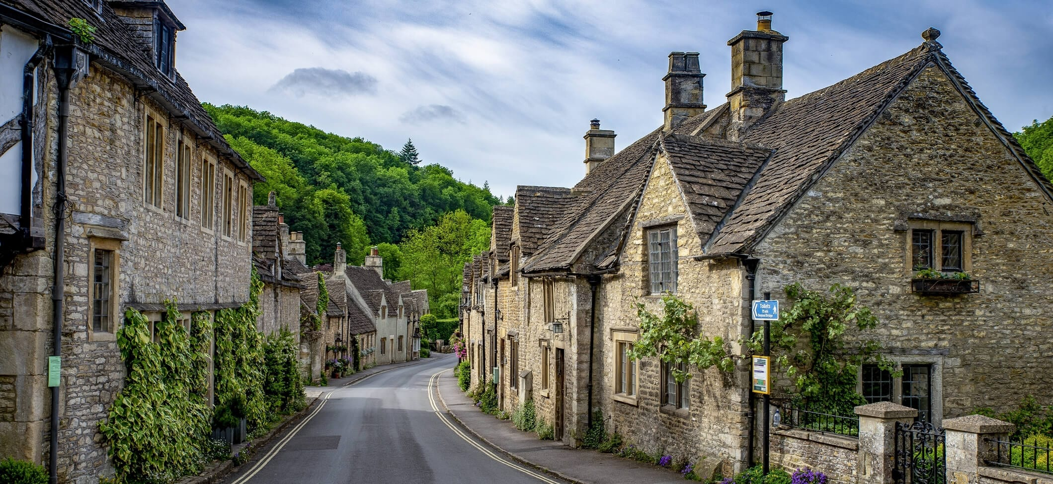 Brick stone houses in the UK
